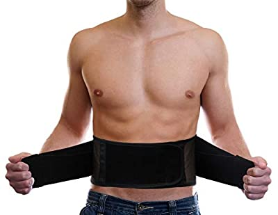 Lightweight Back Brace for Men & Women Under Uniform, Dual Medical 3D Lumbar Pads for Lower Back Pain Relief, Breathable Mesh with Adjustable Stapes for Back Stress - L from AllyFlex Sports