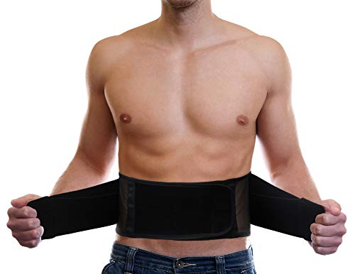 Lightweight Back Brace Under Clothes Breathable Honeycomb Mesh & Dual Lumbar Pads for Lower Back Pain Relief, Adjustable Straps for Optimal Lower Back Support - XL/XXL