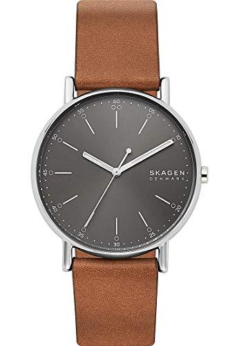 Skagen SKW6578 Signatur Uhr Herrenuhr Lederarmband Edelstahl 5 bar Analog braun