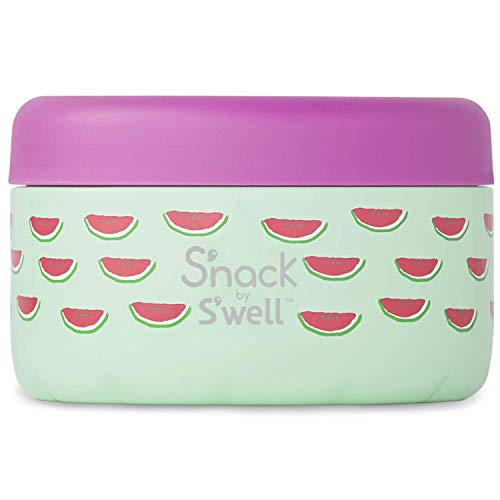 S'nack by S'well Stainless Steel Food Container - 10 Oz - Slice of Life - Double-Layered Insulated Bowls Keep Food and Drinks Food and Drinks Cold for 10 Hours and Hot for 4 Hours