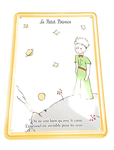 Editions Clouet, carte métal murale le petit prince planete