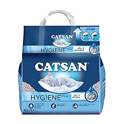 Catsan Hygiene Plus Arena Absorbente para Gatos - 10 l 🔥