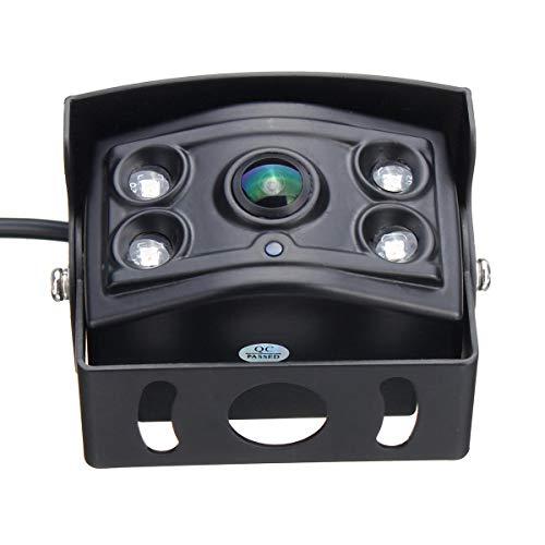 WZhen Ccd A 4 Pin 150° 4 LED Visione Notturna Impermeabile Auto Retrovisore Telecamera per Camion