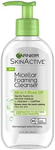 Garnier SkinActive Micellar Foaming Face Wash, For Oily Skin, 6.7 fl oz