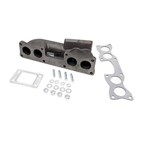 Works with T3 T3T4 Hybrid Turbo Cast Iron Rev9 MF-066 Rev9 MF-006 Top Mount T3 Turbo Manifold compatible with Honda D15//D16 SOHC Motor Engine
