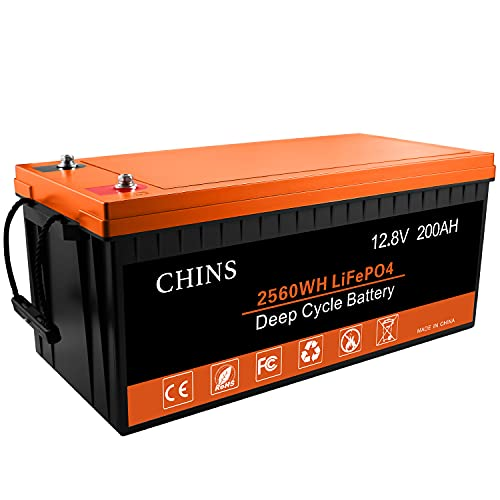 LiFePO4 Battery, Built-in 200A BMS, 12V 200Ah Lithium Battery Perfect for Replacing Most of Backup...