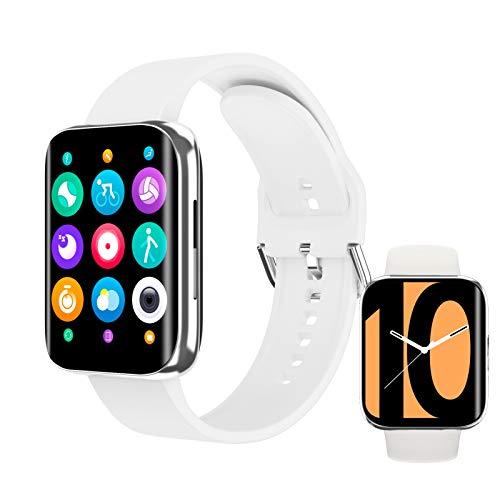 Reloj Inteligente Mujer Hombre, Pulsera Actividad, Smart watch con Monitor de Pasos, Calorías, Sueño y Ritmo Cardíaco, Reloj Inteligente Impermeable IPX7, Reloj Deportivo para iOS y Android
