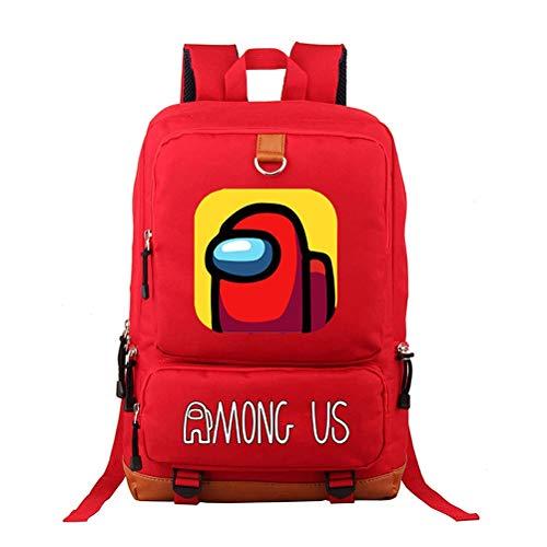 YIPUTONG Among Us Zaino, Zaino per Giochi 3D Zaini alla Moda Borse da Scuola Oxford Zaino da Viaggio per Laptop da Donna per Uomo