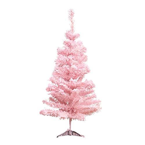 Amosfun Árbol de Navidad Rosa Árbol de Navidad Artificial Decoración del hogar de Vacaciones Lindo árbol Flocado Decoración de Navidad 60cm Árbol de Cedro Rosa