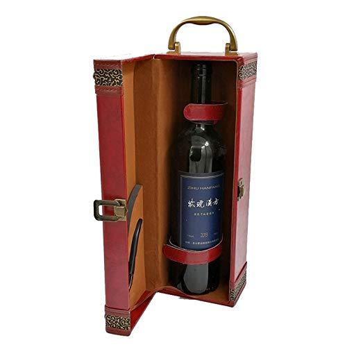 WZJ-Caja de Regalo Caja de Regalo de la colección Anti-Gota del Vino Rojo Americano Retro, Regalos para cumpleaños