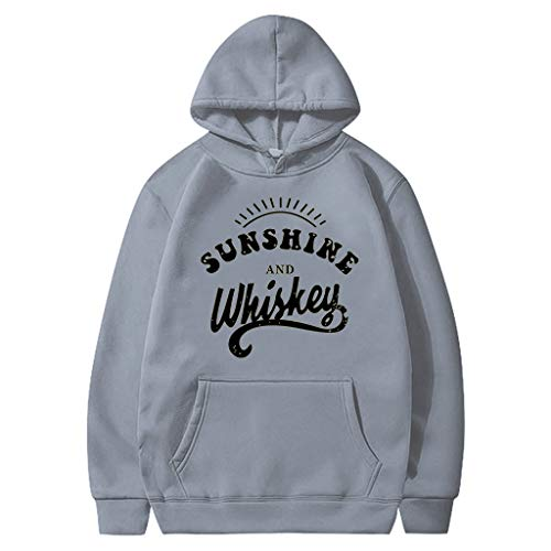 Sweat à Capuche Femme,SANFASHION Sweat Pull Grande Taille,Manches Longues Imprimé Tournesol Chic Hoodies Loose Casual