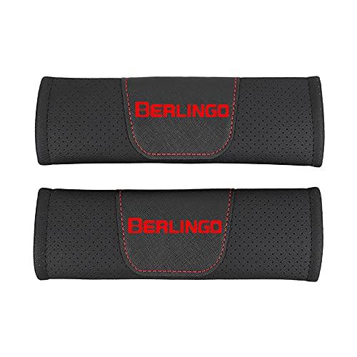 Protector de cojín de hombro para cinturón de seguridad de estilo de coche de cuero Pu,para Citroen Berlingo,accesorios de estilo de coche, 2 piezas