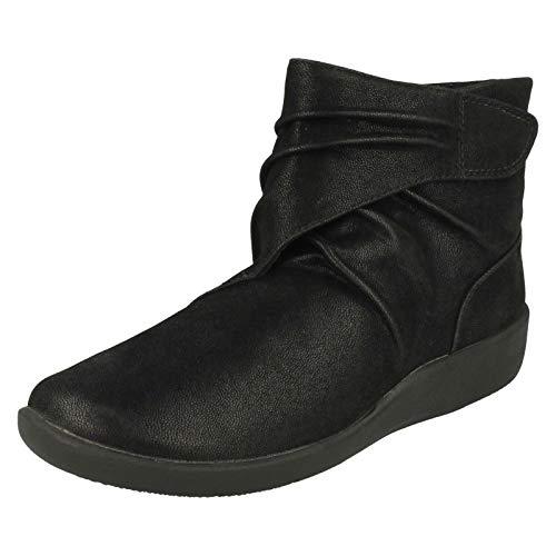Clarks Sillian Tana Womens Ankle Boots 3 UK Black
