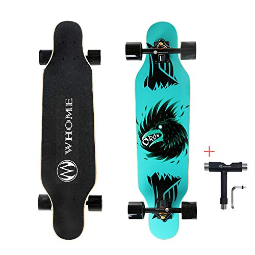 """WHOME 31"""" Pro Small Longboard Carving Cruising Skateboard - for Adult Youth Kid Beginner Girl and Boy T-Tool Included"""