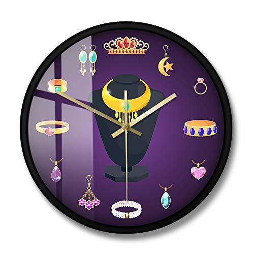 Fryymq (12 Zoll mit LED) mit Rahmen Acryldruck Wanduhr Wandbehang Kunstzubehör dekorative Uhr