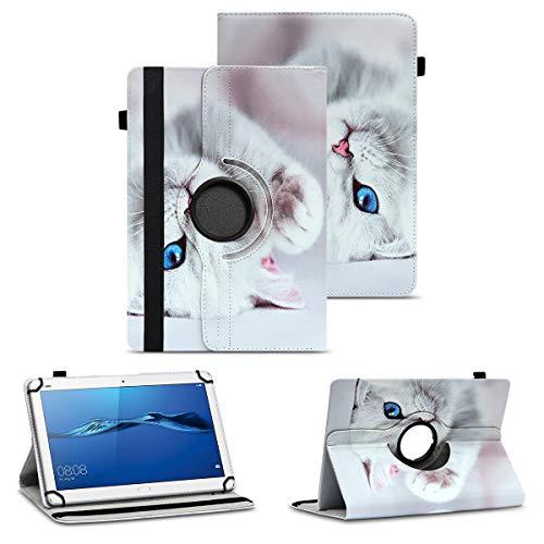 NAUC Tablet Tasche kompatibel für Huawei Mediapad X2 Hülle Schutzhülle Cover Schutz Hülle Drehbar, Farben:Motiv 10