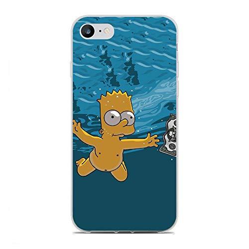 SiYooca Transparent Slim Liquid Flexible Fundas Soft Case Back Cover for Apple iPhone 6/6s-Funny Homer-Simpson 9