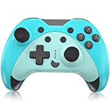 KINGEAR Gifts for Women Men Cat Controller for Nintendo Switch, Gifts for Girls Kawaii Accessories for Animal Crossing, Wireless Game Controllers with Six Gyro Axis, Baby Blue Controller for Switch