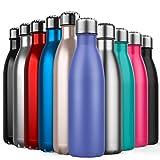BICASLOVE Bottiglia Termica, Bottiglia per Vuoto in Acciaio Inossidabile,Design a Doppia Parete,...