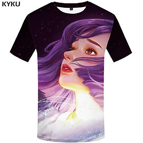 Zzfklj Avengers Fashion T Shirt Men Marvel T-Shirts 3D Film Funny Fashion T Shirts Galaxy Fashion T Shirt Printed Colorful Anime Clothes-Dx5009_Xxl