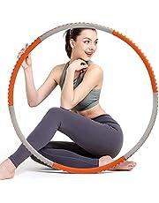 Sunshine smile Hoelahoep, fitness hoelahoep voor gewichtsvermindering en massage, fitness hoelahoepband, gymnastiek circuit, slankheidscirkel voor gewichtsverlies, hoelahoep fitnesscirkel