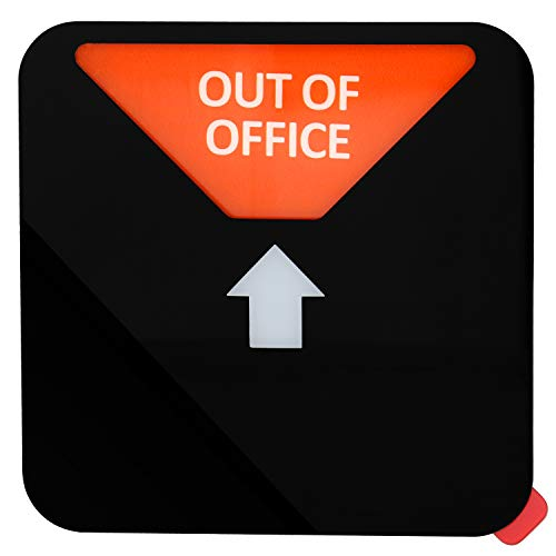 Kichwit Privacy Sign, Do Not Disturb Sign, Out of Office Sign, Please Knock Sign, In a Meeting Sign, Office Sign, Conference Sign for Offices, Squared Shaped, 4.9 Inch, Black Photo #4