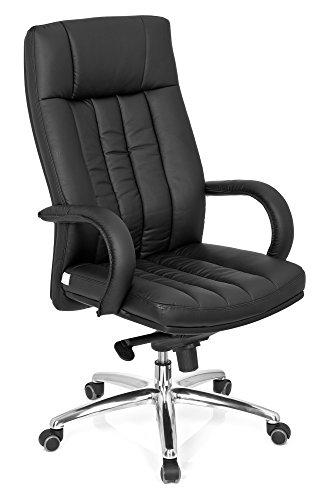 hjh OFFICE 724200 Chefsessel XXL G 300 Kunstleder schwarz Drehstuhl Schwerlaststuhl 150kg Schreibtischstuhl hjh OFFICE