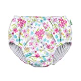 i play. by green sprouts Girls' Reusable Swim Diaper, White Flower Bouqet, 3T