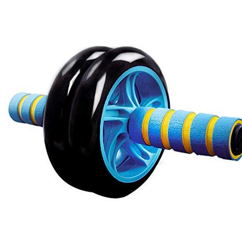 GFDFD Músculo Abdominal Rueda-Roller, Ejercicio y Salud física de Ruedas con Agarre fácil Asas de Entrenamiento de la Base