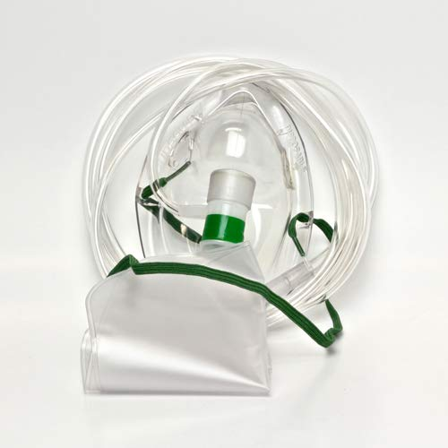 Máscara de oxígeno con bolsa/antitranspirante