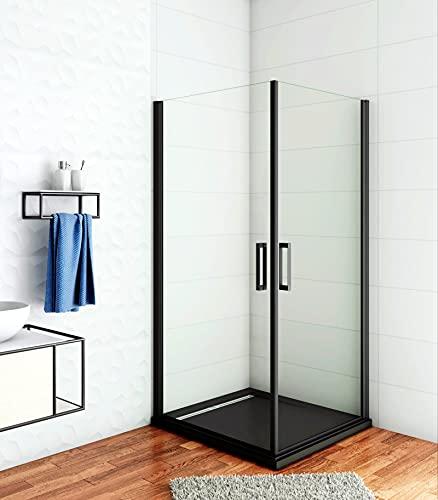 Aica Sanitär 90x90cm Duschkabine Duschabtrennung 8mm NANO Glas Eckeinstieg Schwingtür Drehtür Dusche Höhe 200cm