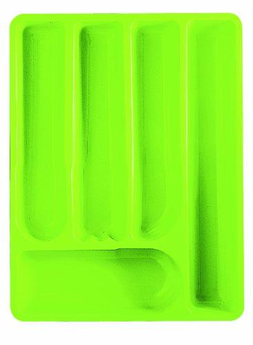 Guzzini 16730044 Range Couverts Vert Acide 5,5 x 39,5 x 30 cm