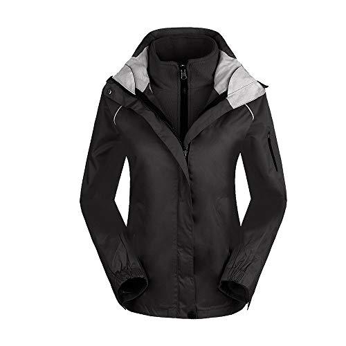 LZXMXR Outdoor-Kleidung, winddicht, warm, Damen-Jacke, zweiteilig, abnehmbar, Einzelbekleidung, Bergsteigen, Skifahren, Sportbekleidung (Farbe: F, Größe: XXL)