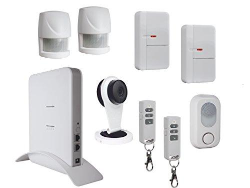 Compleet alarmsysteem voor huis met IP-camera, app-bediening, beveiligingssysteem voor huisbeveiliging, beveiligings- en home-automatiesysteem.