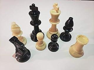 Chess Pieces Set of 32 pieces, Chess Pieces Set, Chess Set, board games, black & white, King Size أحجار شطرنج