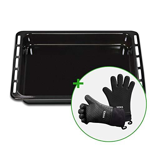 Set bakplaat Whirlpool 481010657928 450 x 375 mm met 2 siliconen ovenwanten