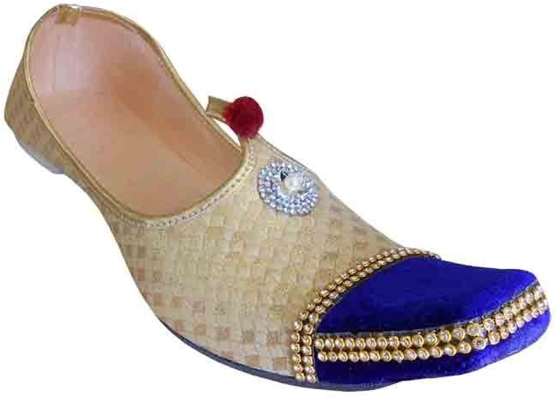 Kalra Creations Mojari Groom Khussa Men shoes Indian Flip-Flops Loafers & Slip Ons Flat