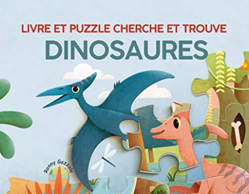 Dinosaures - Livre et Puzzle Cherche et Trouve