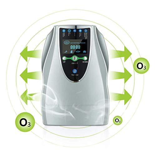 Generador De Ozono, Purificador De Aire Doméstico, Máquina De Ozono Portátil Multipropósito De 500 MG/H con 6 Temporizadores para Cocina, Dormitorio, Sala De Estar, Baño Y Oficina