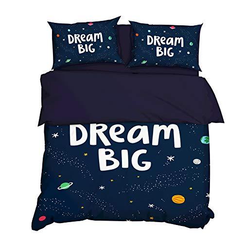 AYMAYO Baby Best Parure de lit pour enfant Motif ourson mignon Housse de couette 135 x 200 cm Taie d'oreiller 50 x 75 cm 100% coton, Coton, Style B, 135×200cm