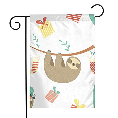 Funny Dabbing Pied French Bulldog Dog Garden Flag 12x18 Inch Double Sided Vertical House Flag For Holiday Party Yard Banner Outdoor Decoration