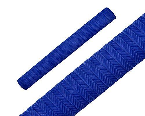 Make or Break Professional Cricket Bat Rubber Grips Spiral Non Slip Replacement Handle Grip Design S05 Dark Blue