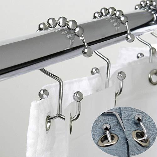 QAZLP Cortina de baño bola cortina de ducha anillo gancho baño barra de ducha