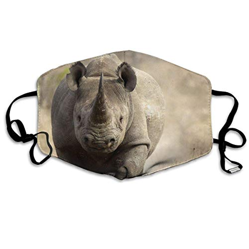 Tiere Nashorn Gedruckte Gesichtsdekorationen für Frauen und Männer