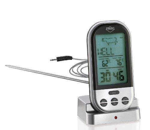 Küchenprofi Profesjonalny termometr do smażenia, termometr do mięsa, cyfrowy w kolorze srebrnym, stal nierdzewna