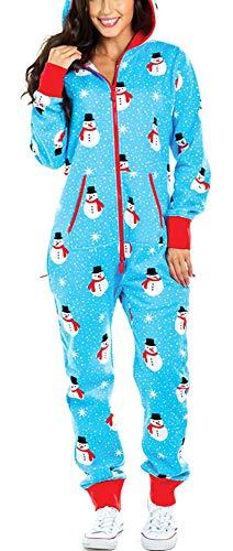 Huyghdfb Women's Onesies Hooded Pajamas Warm Christmas...