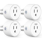 Smart Plug Mini WiFi Outlet Wireless Socket Compatible with Alexa, Echo,Google Home and IFTTT, ZOOZEE Smart Plug WiFi Socket