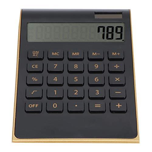 Presente románticoCalculadora de Oficina, Calculadora de Oficina ultradelgada, calculadoras de sobremesa, Oficina portátil para la Escuela, hogar, Negocios, Uso financiero(Black)