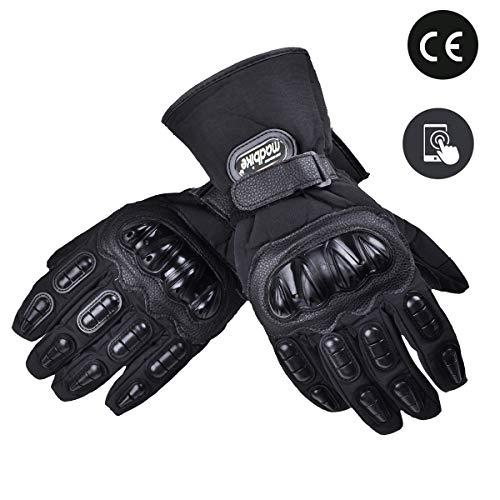madbike motorhandschoenen waterdichte moto handschoenen motorfiets winter M,L,XL,XXL black L-Touch