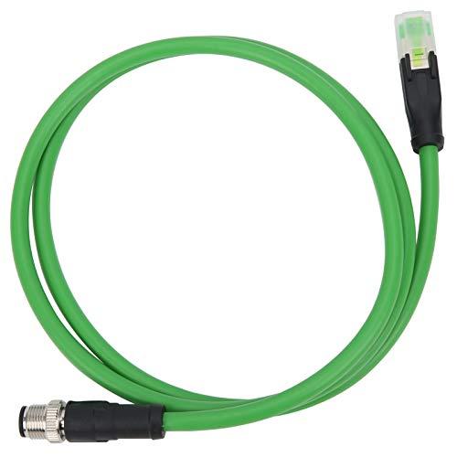 Qqmora Cable de Red Cable de conexión M12 a RJ45 Cable de conexión Cable Ethernet M12 a RJ45 Cable para conectar Dispositivos M12